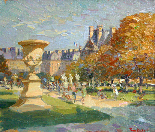 Sunday in the tuileries paris oil on canvas landscape for Expo tuileries